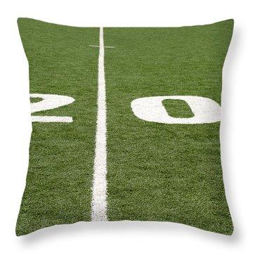 Throw Pillow featuring the photograph Football Field Twenty by Henrik Lehnerer