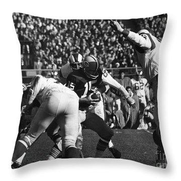 Football Game, 1965 Throw Pillow by Granger