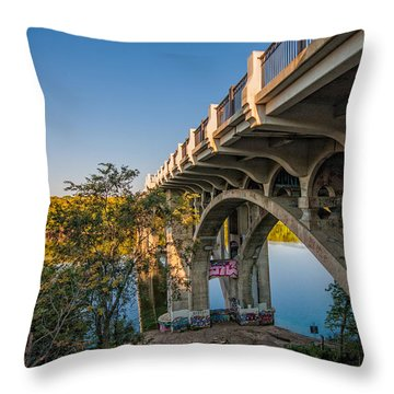 Throw Pillow featuring the photograph Ford Parkway Bridge by Tom Gort