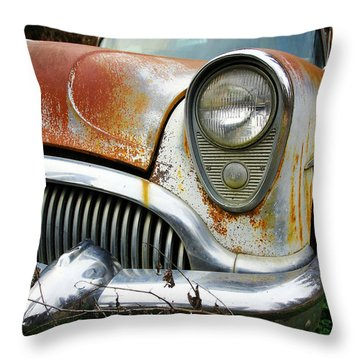 Forgotten Buick Throw Pillow by Steve McKinzie