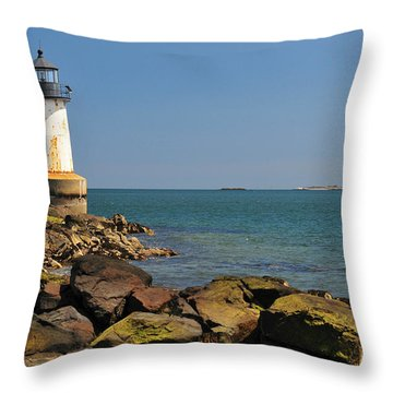 Fort Pickering Light Throw Pillow by Catherine Reusch Daley