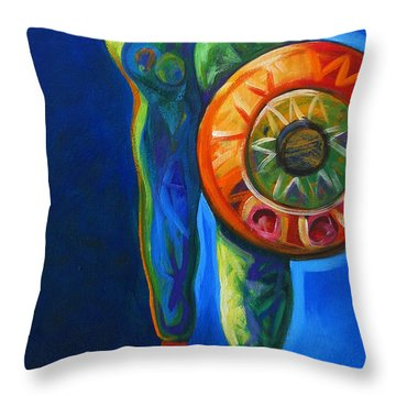 Four Feathers Throw Pillow by Lance Headlee