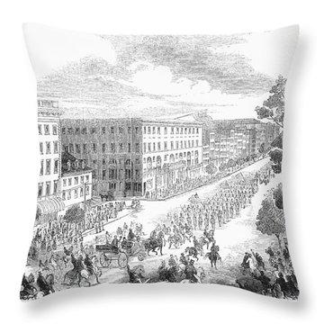 Franklin Pierce Throw Pillow by Granger
