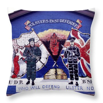 Freedom Corner Mural Throw Pillow by Thomas R Fletcher