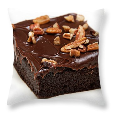 Fudge Nut Brownie Throw Pillow