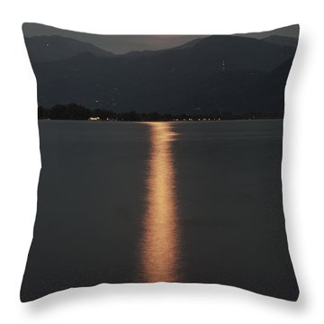 Full Moon Throw Pillow by Joana Kruse