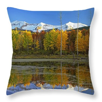 Full Moon Over East Beckwith Mountain Throw Pillow by Tim Fitzharris