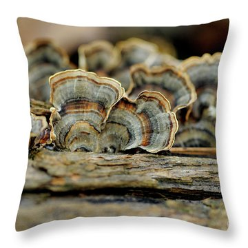 Fungus Throw Pillow