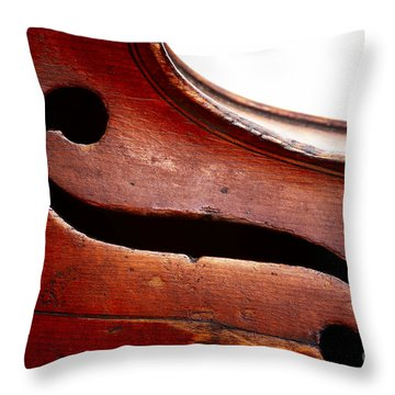G Clef Throw Pillow by Michal Boubin