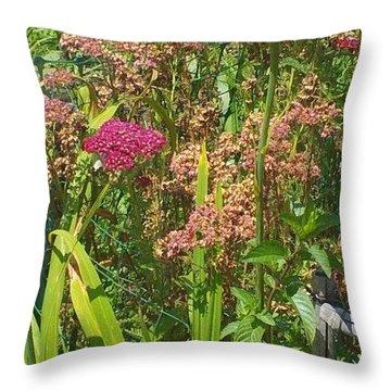 Garden Flowers  Throw Pillow by Thelma Harcum