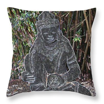 Throw Pillow featuring the photograph Garden Goddess by Donna  Smith