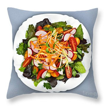 Garden Salad Throw Pillow by Elena Elisseeva