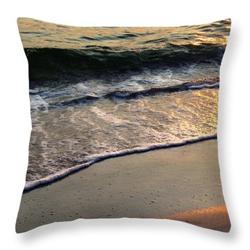 Gentle Tide Throw Pillow by Angela Rath