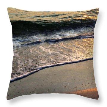 Gentle Tide Throw Pillow