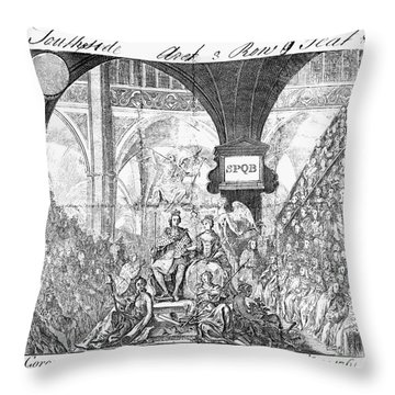George IIi: Coronation, 1761 Throw Pillow by Granger