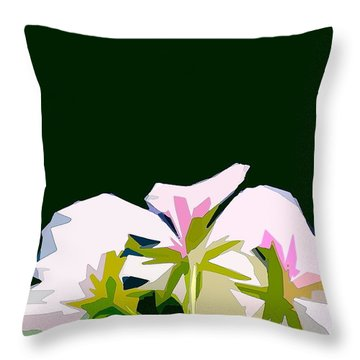 Geranium 3 Throw Pillow by Pamela Cooper