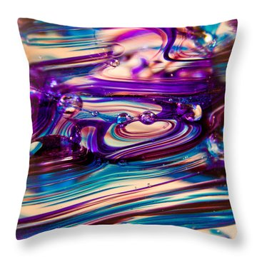 Glass Macro II Throw Pillow by David Patterson