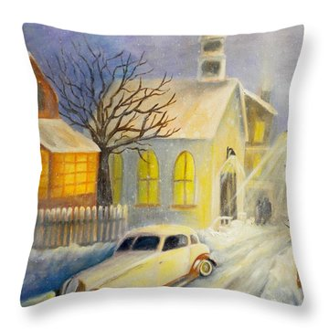 Going Home Throw Pillow by Renate Nadi Wesley
