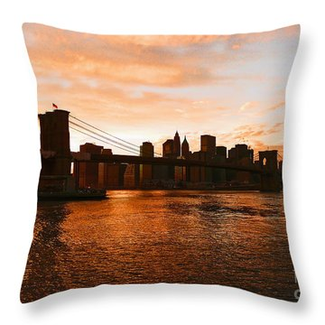 Golden Memories Throw Pillow