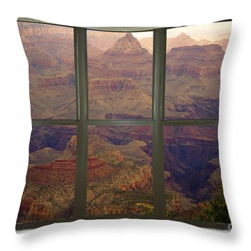 Grand Canyon Springtime Bay Window View Throw Pillow by James BO  Insogna