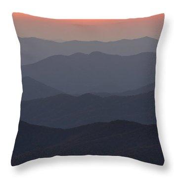 Great Smokie Mountains At Sunset Throw Pillow by Dustin K Ryan