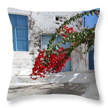 Greece Throw Pillow by Milena Boeva