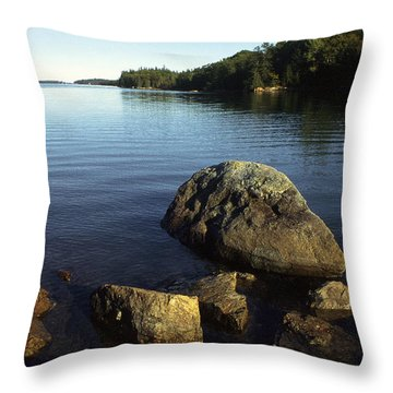 Greenlaw Cove Deer Isle Maine Throw Pillow by Thomas R Fletcher
