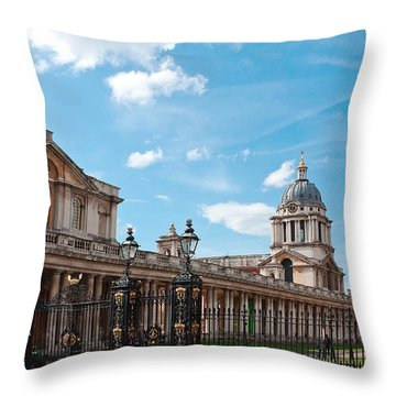 Greenwich Naval College Throw Pillow by Shirley Mitchell