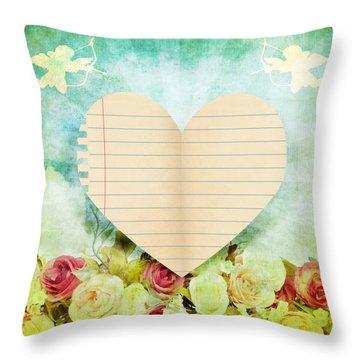 greeting card Valentine day Throw Pillow by Setsiri Silapasuwanchai