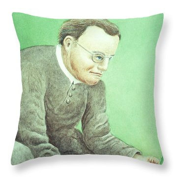 Gregor Mendel, Father Of Genetics Throw Pillow by Science Source