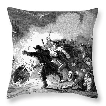 Guy Fawkes Day, 1853 Throw Pillow by Granger