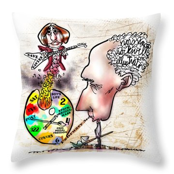 Happy Birthday Norman Rockwell Throw Pillow