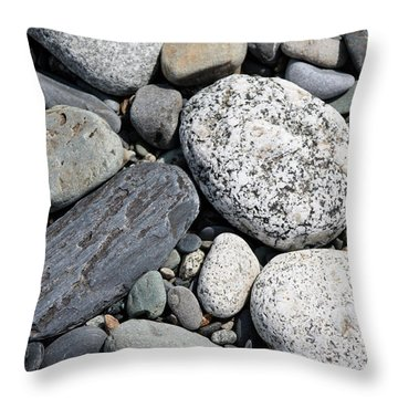 Healing Stones Throw Pillow by Cathie Douglas