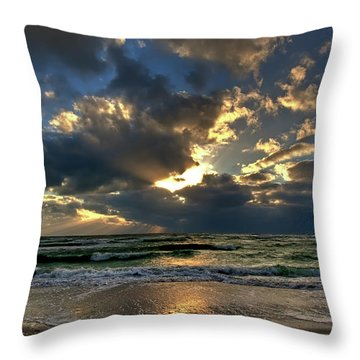 Heavenly Rays Throw Pillow by Nick  Shirghio