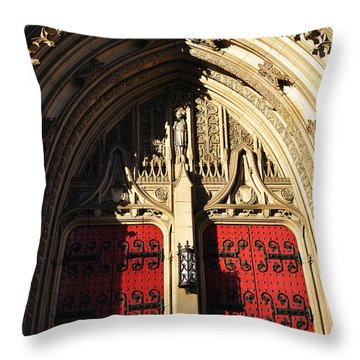 Heinz Chapel Doors Throw Pillow by Thomas R Fletcher