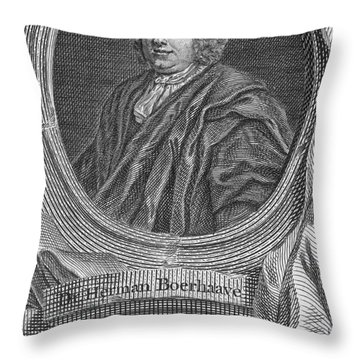 Herman Boerhaave, Dutch Physician Throw Pillow by Science Source