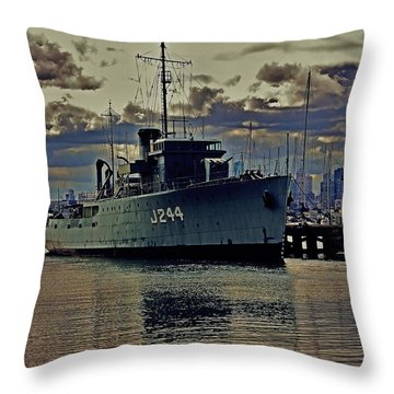 Throw Pillow featuring the photograph Hmas Castlemaine 3 by Blair Stuart