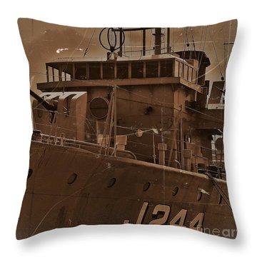 Throw Pillow featuring the photograph Hmas Castlemaine 4 by Blair Stuart