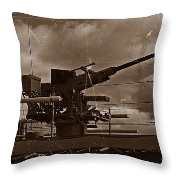Throw Pillow featuring the photograph Hmas Castlemaine 5 by Blair Stuart