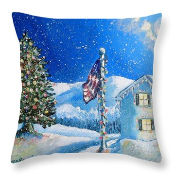Home For The Holidays Throw Pillow by Shana Rowe Jackson