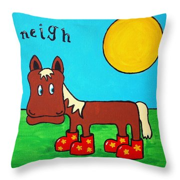 Horse Throw Pillow by Sheep McTavish