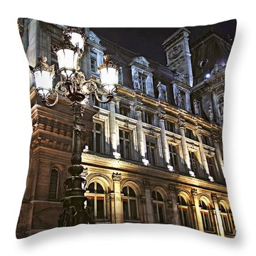 Hotel De Ville In Paris Throw Pillow