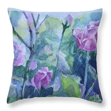 How Did The Rose Throw Pillow by Jan Bennicoff