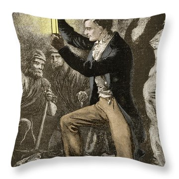 Humphry Davy, English Chemist Throw Pillow by Science Source