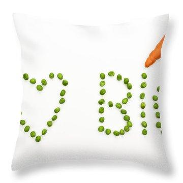 I Love Bio Throw Pillow by Joana Kruse