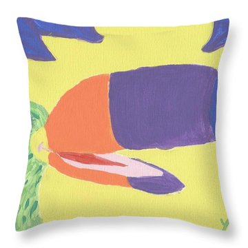 If One Can Toucan Throw Pillow