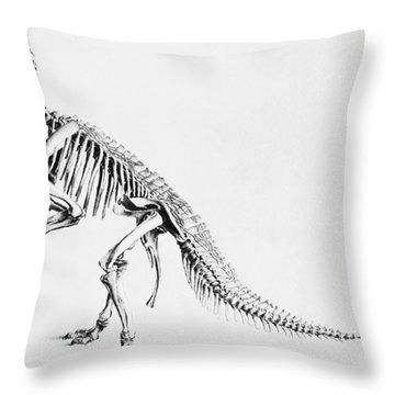 Iguanodon, Mesozoic Dinosaur Throw Pillow by Science Source