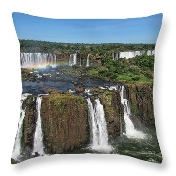 Iguazu Falls Throw Pillow by David Gleeson