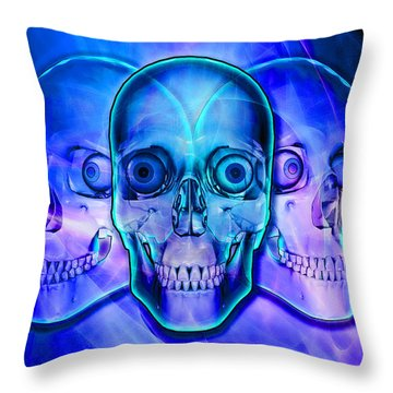 Illuminated Skulls Throw Pillow