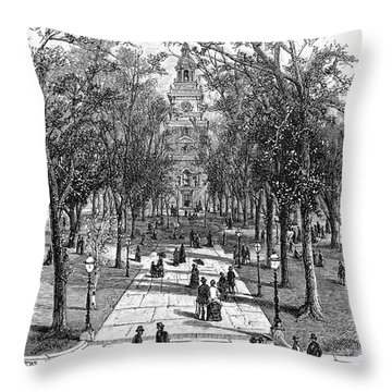 Independence Hall, C1876 Throw Pillow by Granger